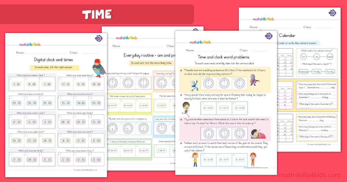 First Grade math worksheets - sums and differtimeences worksheets