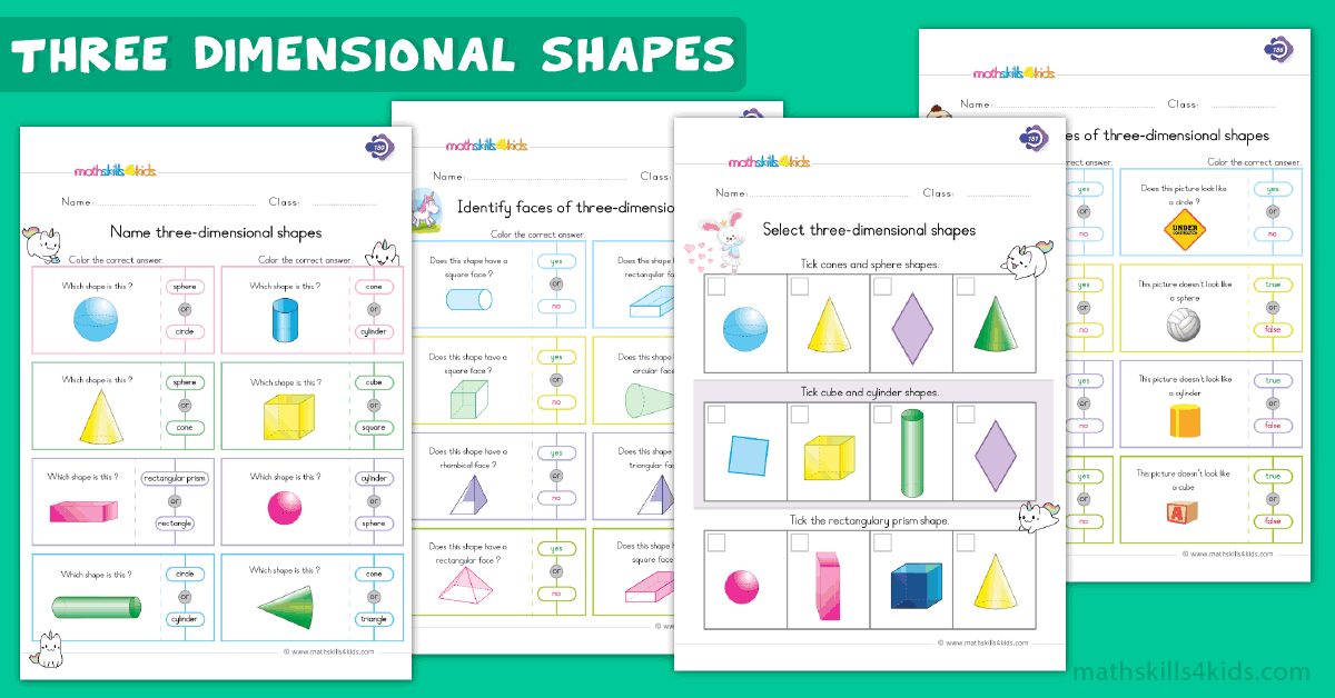 handla låg kostnad på fötter bilder av 3D Shapes Worksheets for Grade 1 | 1st Grade Solids Figures ...