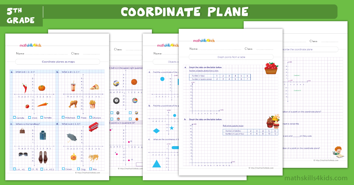 fifth grade math worksheets - coordinate graph worksheets for grade 5