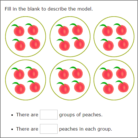 basics of multiplication - Count equal groups and write the number of elements in each group