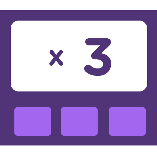 Learn how to multiply by 3 - Training activities