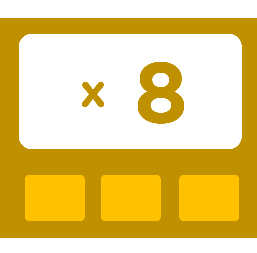 Learn how to multiply by 8 - Training activities