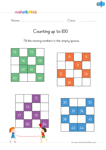 Reading and writing numbers - count up to 100