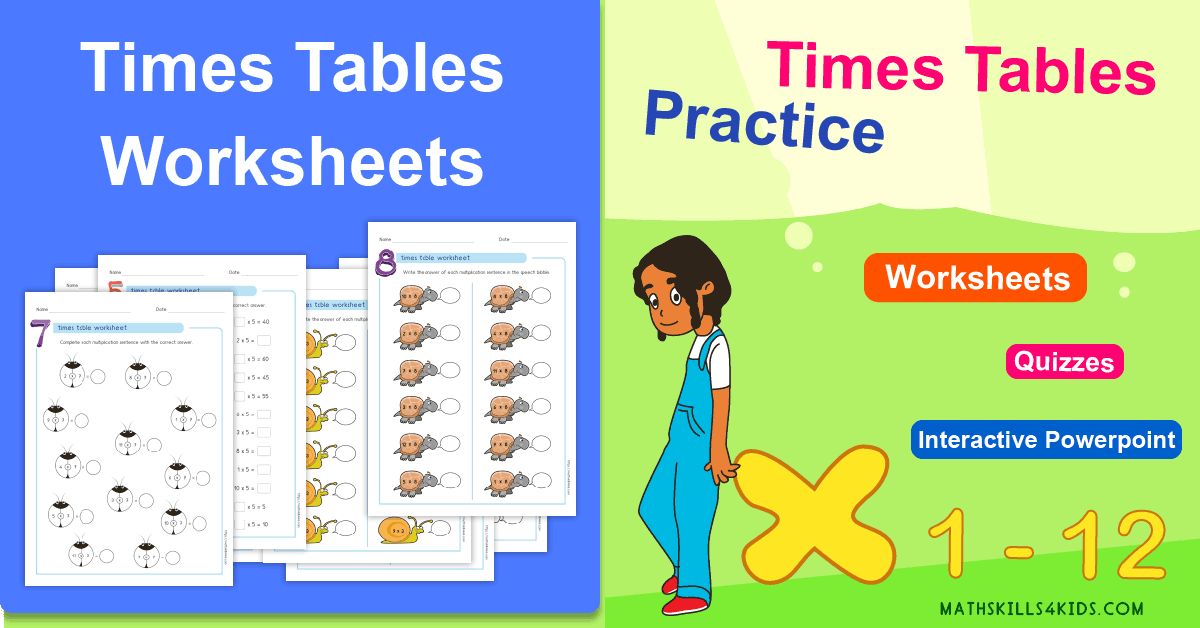 Multiplication Tables Exercises Times Tables Free