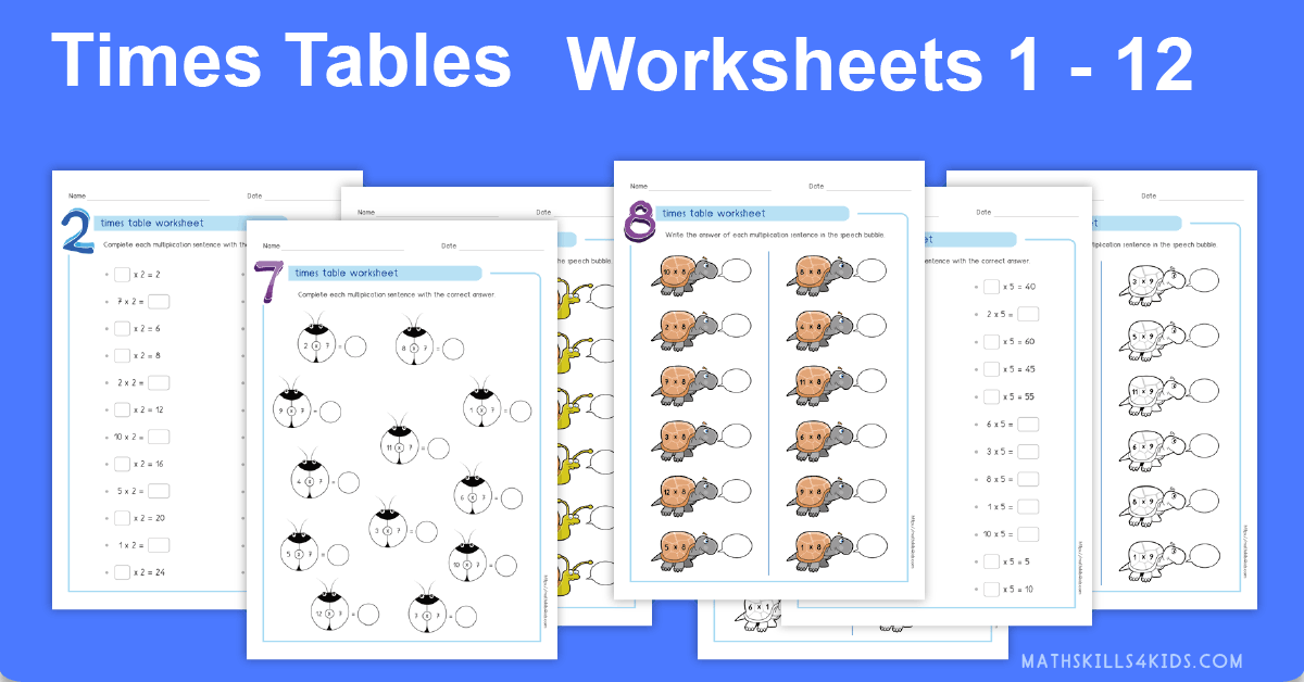 photo relating to Multiplication Table Printable Pdf identified as Occasions Tables Worksheets PDF Multiplication desk 1-10
