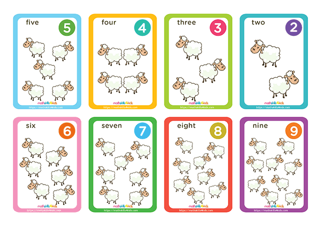Hero Shepherd printable counting cards for numbers up to 10 - numbers pack 1