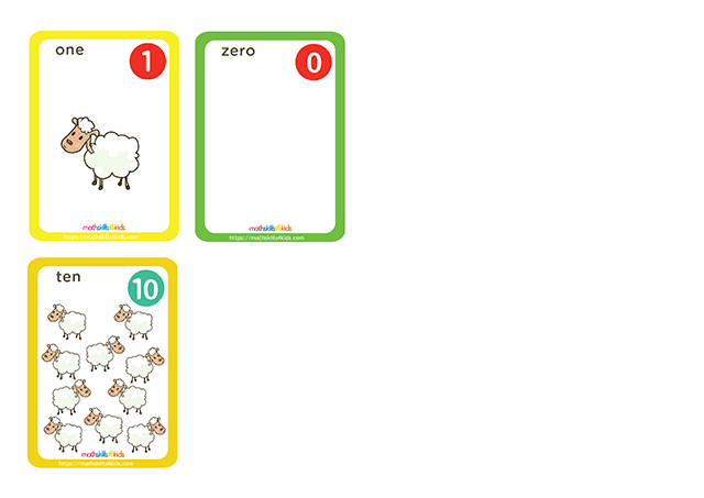 Hero Shepherd printable counting cards for numbers up to 10 - numbers pack 2