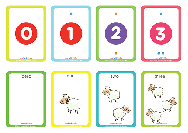 Hero Shepherd numbers up to 10 matching pairs cards printable - number 1 to 2