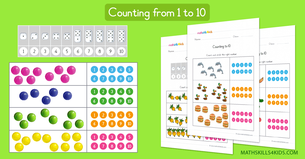 Learn to count up to 10 worksheets