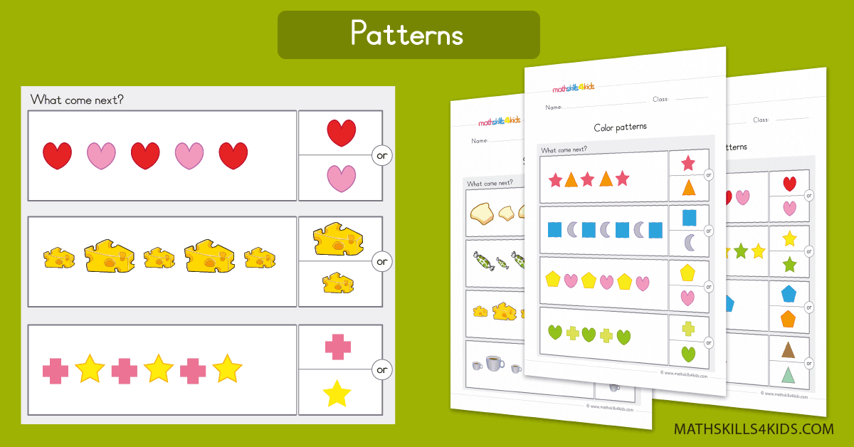 graphic about Printable Patterns known as Routine worksheets for preschool Pre-K Cost-free practice printable