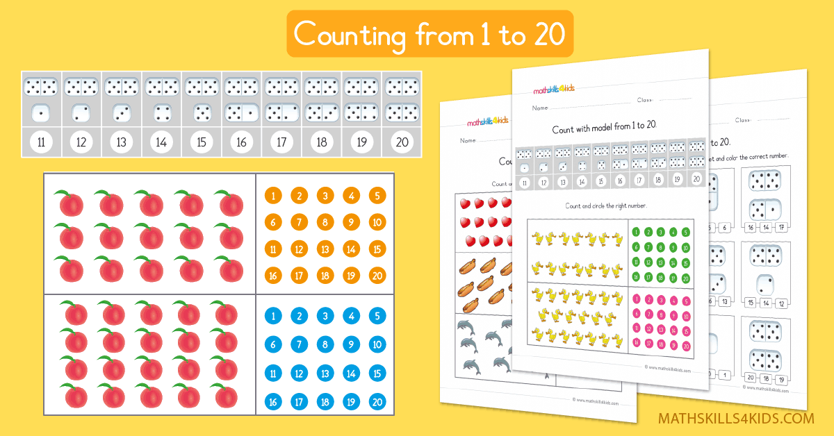 Counting to 20 worksheets for preschoolers