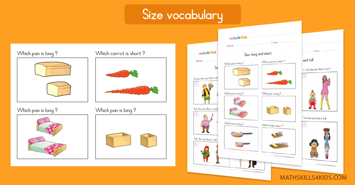 Size Comparing worksheets for Pre K