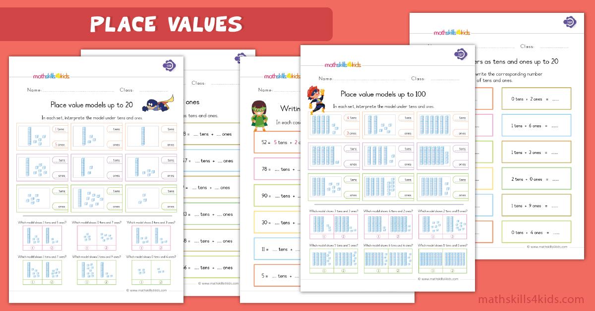 1st Grade Place Value Worksheets Tens And Ones Worksheets Grade 1 PDF