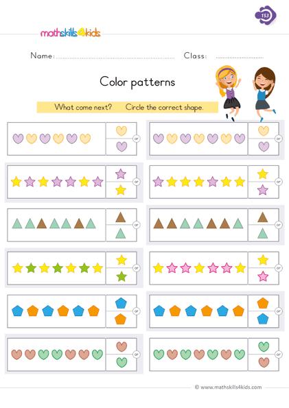Picture Pattern Worksheets | Pattern Worksheets for Grade ...
