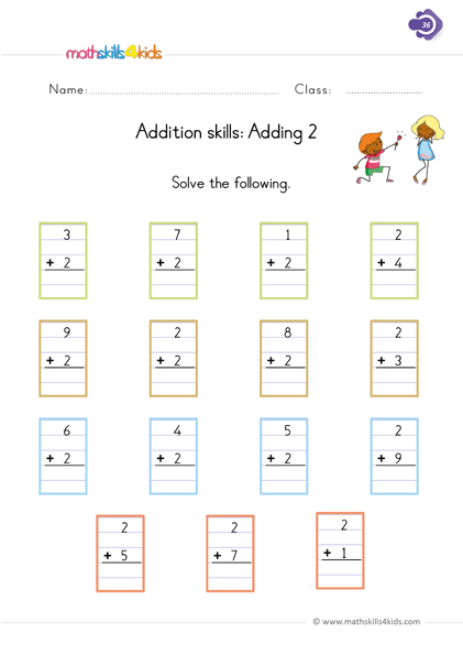 1 Digit Addition Worksheets for Grade 1 | 1st Grade Basic ...