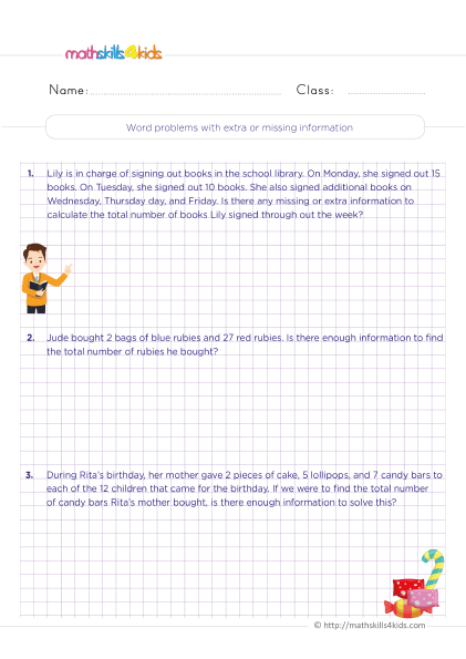 4th Grade Math Worksheets With Answers Pdf - Free Printable Worksheets For  Fourth Grade