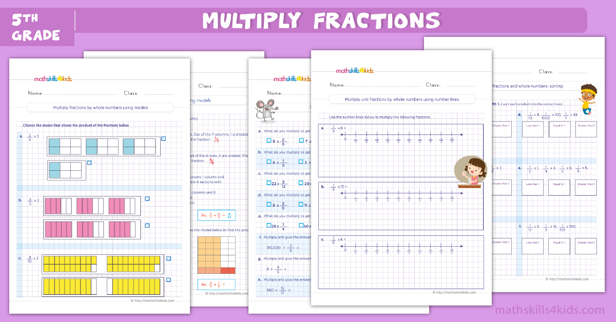 Multiplying fractions worksheets with answers for 5th grade pdf - Multiplying mixed numbers worksheets