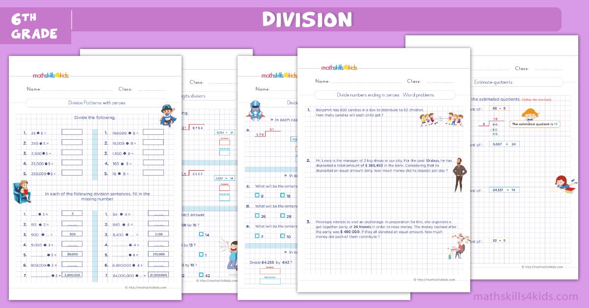 6th Grade Math Division Worksheets Pdf
