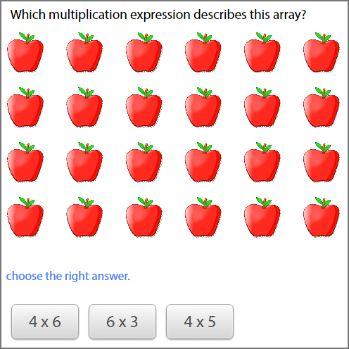 basics of multiplication - Identify multiplication expression for arrays