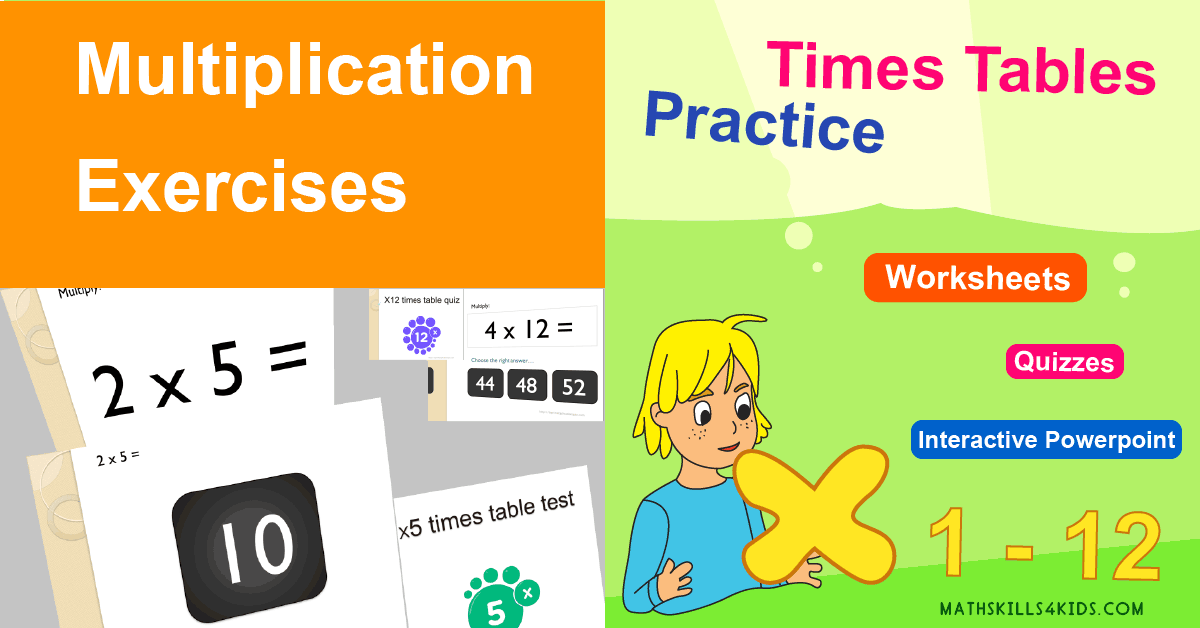 Multiplication Worksheets & Free Printables - Times Table Games - multiplication exercises