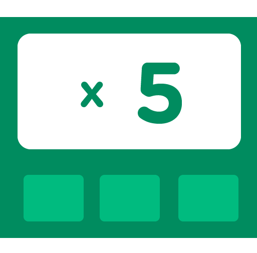 Learn how to multiply by 5 - Training activities