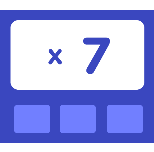 Learn how to multiply by 7 - Training activities