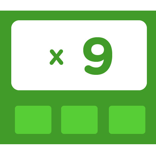 Learn how to multiply by 9 - Training activities