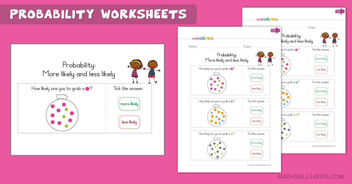Kindergarten math worksheets - probability worksheets