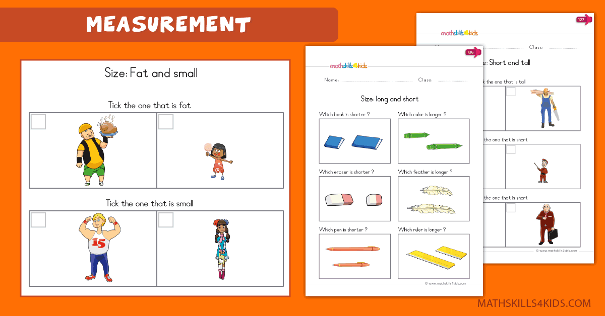 Measurement Worksheets For Kindergarten Pdf Measure And Compare By Size Or Weight