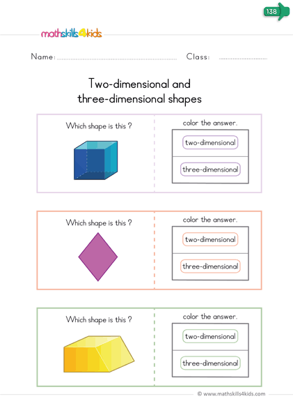Free Printable 3d Shapes Worksheets For Kindergarten Solid Figures Worksheets