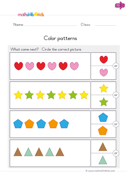 patterns worksheets