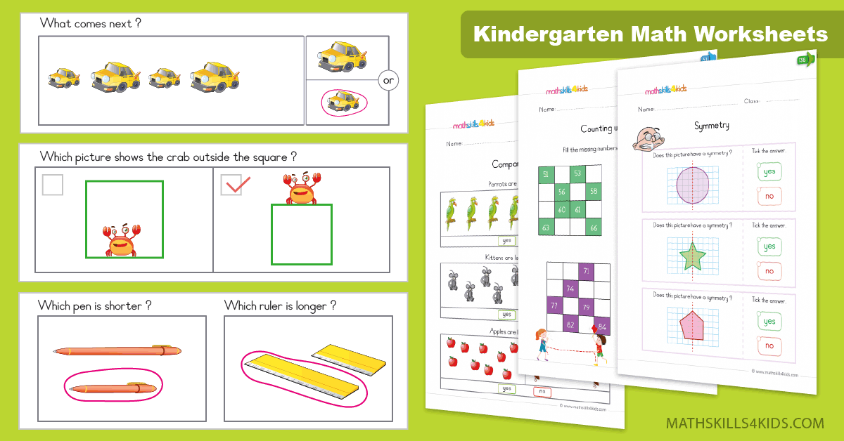Kindergarten Math Worksheets And Free Printables Kinders Math Worksheets  Pdf