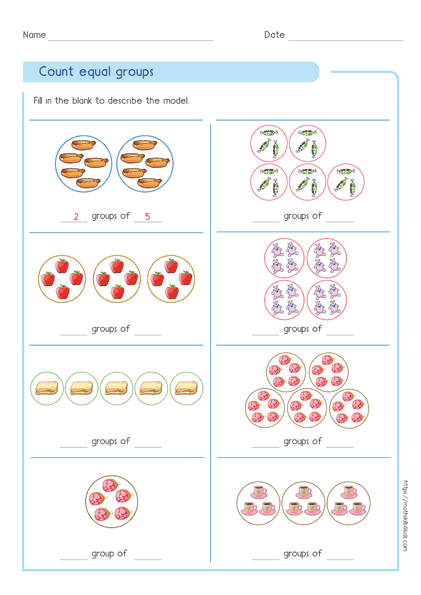 Multiplication Equal Groups - Understand multiplication Concept