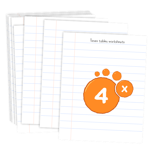 Multiplication printable - 4 times table worksheets