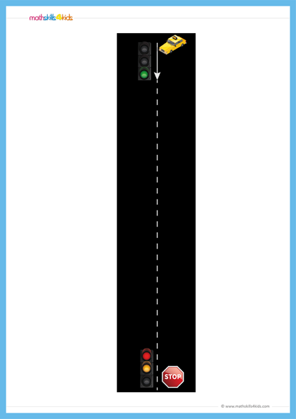 graphic about Printable Road referred to as Street Figures Math performing exercises sport Pre-K Cost-free printable Highway