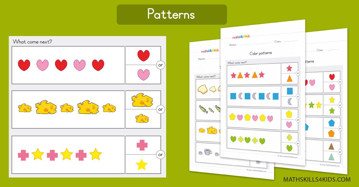Pattern Worksheets For Preschool Pre-K Free Pattern Printable