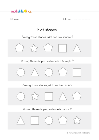 Shapes Worksheets For Preschool Pre-K Free Basic Shapes For Toddlers